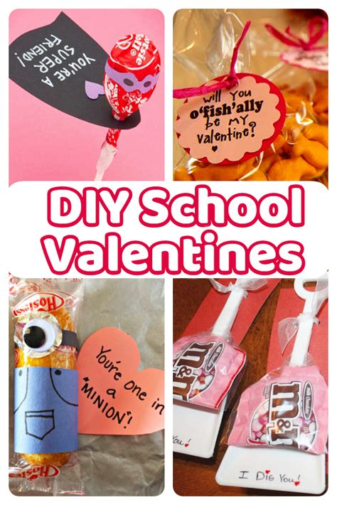valentines day ideas school diy school cards for classmates and teachers