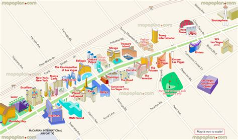 hotel layout on las vegas strip las vegas map map of main strip hotels showing