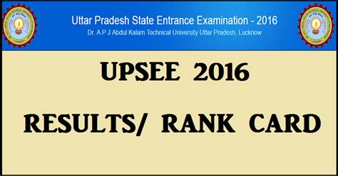 Aktu Ac In Mba Result by Upsee Result 2016 Declared Upsee Nic In Uptu Aktu Rank