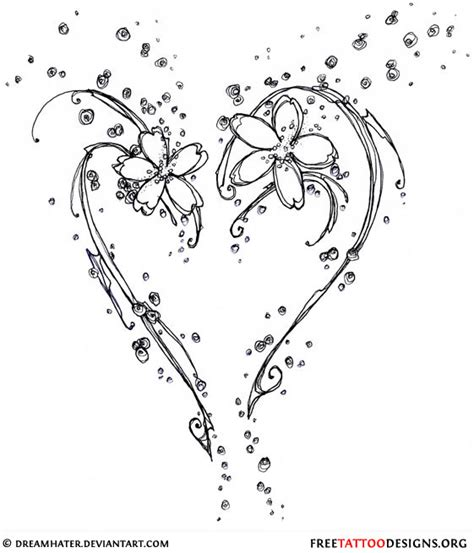 hearts and flowers tattoo designs 55 tattoos and sacred designs