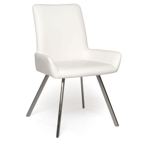 white modern dining chair with arms