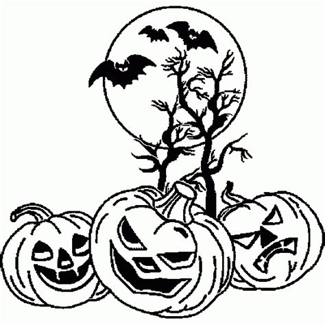 free coloring pages of scary pumpkin