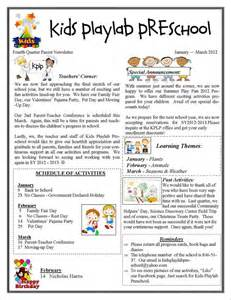 parent newsletter templates preschool newsletters khafre