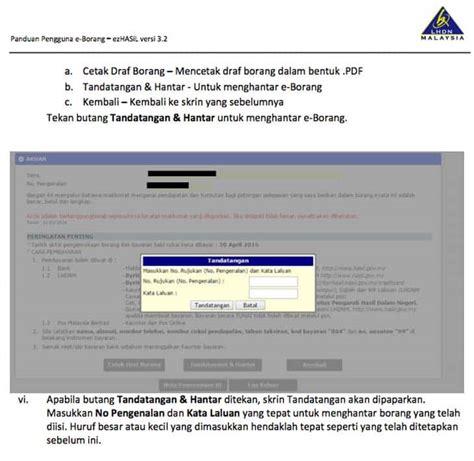 e hasil e filing e filing lhdn malaysia hasil cukai pendapatan