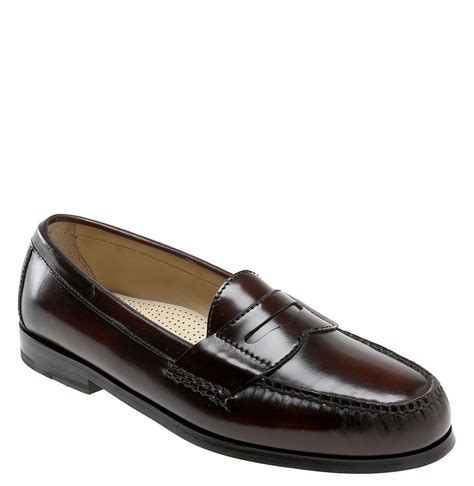 cole han loafers cole haan pinch loafer in for burgundy lyst
