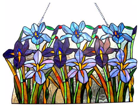 stained glass in home decor accents letters from eurolux chloe lighting ariana stained glass iris window pane 24