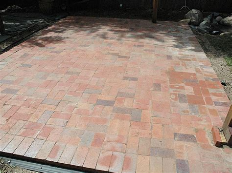 Diy Paver Patio Installation Diy Brick Paver Patio Corner