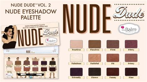 The Balm Dude By Beautify Me thebalm dude eye shadows palette for fall 2014
