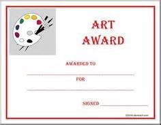 awards for art on pinterest award certificates art