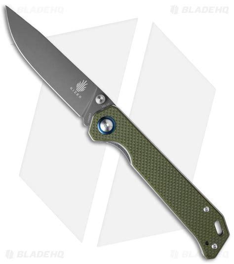 the kizer kizer vanguard series begleiter knife green g 10 3 5