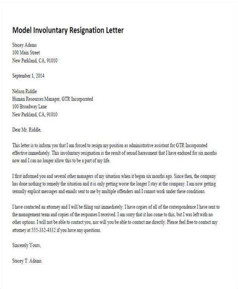 33 resignation letters sles templates in pdf