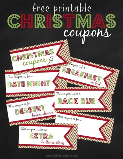 printable love coupons for christmas free printable christmas coupons
