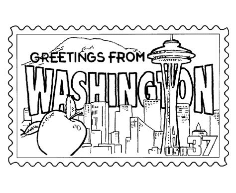 washington coloring pages washington state st coloring page usa coloring pages