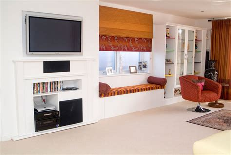 living room fitted furniture integrate tv in the living room home garden design