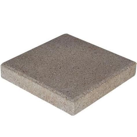 home depot concrete patio blocks pavestone 12 in x 12 in pewter concrete step 71200