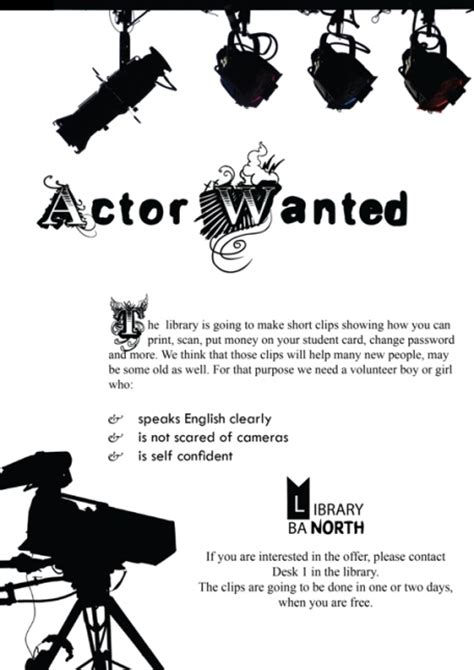poster actors wanted by menian on deviantart