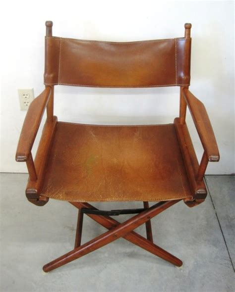 Leather Directors Chair by Vintage Leather Director S Chair Lot 23a