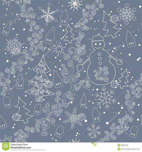 snowflake pattern snowman seamless christmas background stock vector image 34594378