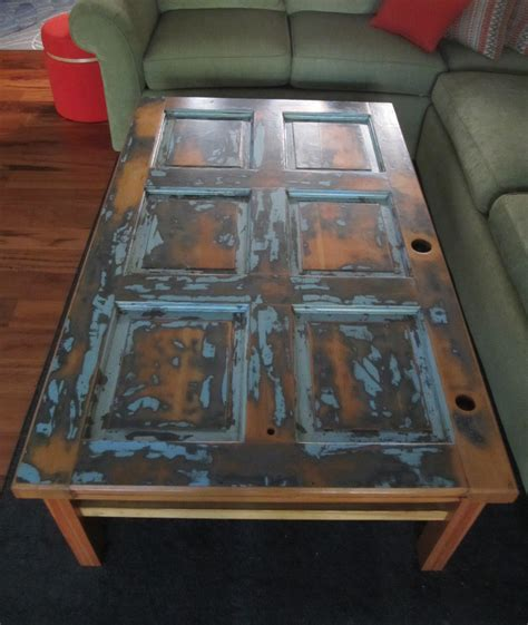 coffee table made from door vintage door coffee table two crows designs
