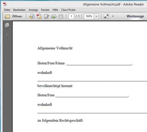 Auto Abmelden Ohne Papiere by Vollmacht Kfz Anmeldung Vollmacht F R Die Zulassung Eines