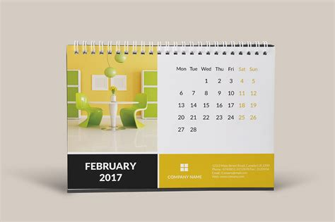 corporate desk calendar 2017 on behance