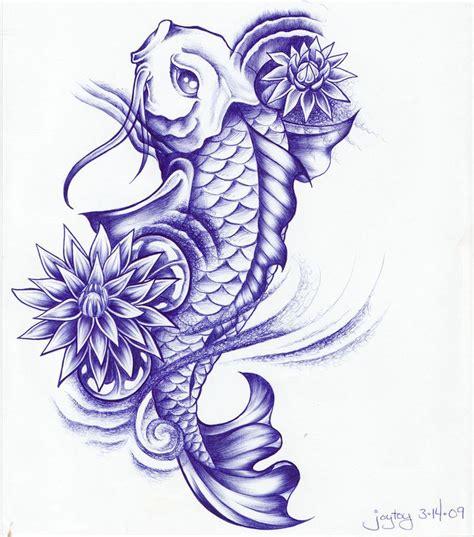 lotus flower tattoo koi fish koi fish tattoo sketch ball point koi and lotus by