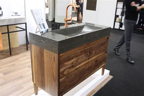 curved countertop 14 stone sinks to boost your bathroom design