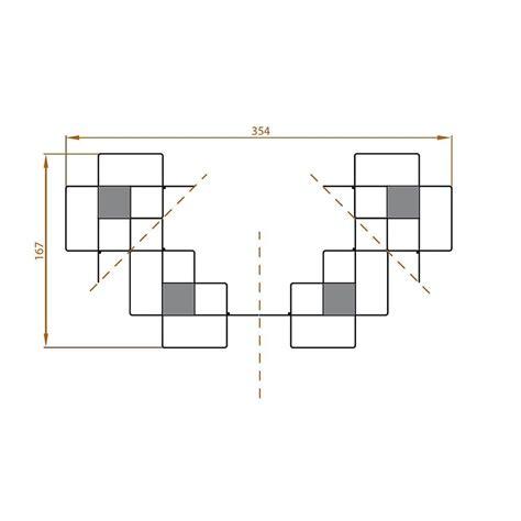 scaffale modulare scaffale modulare libreria mondrian 9 in acciaio 354 x 167 cm