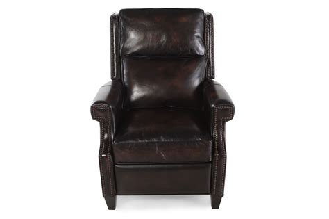Bernhardt Leather Recliner by Bernhardt Barrett Brown Leather Recliner Mathis Brothers Furniture