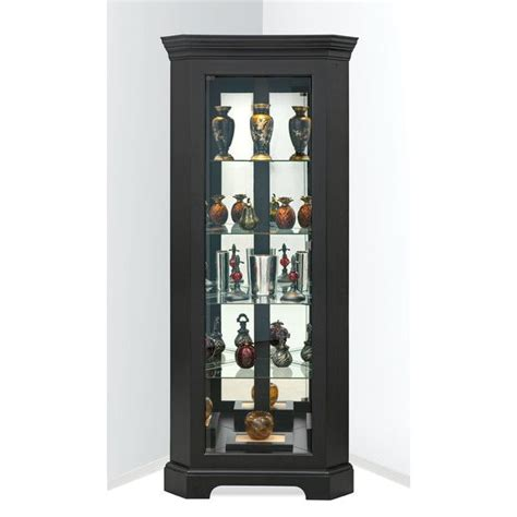 curio cabinet with light the black corner curio cabinet with light