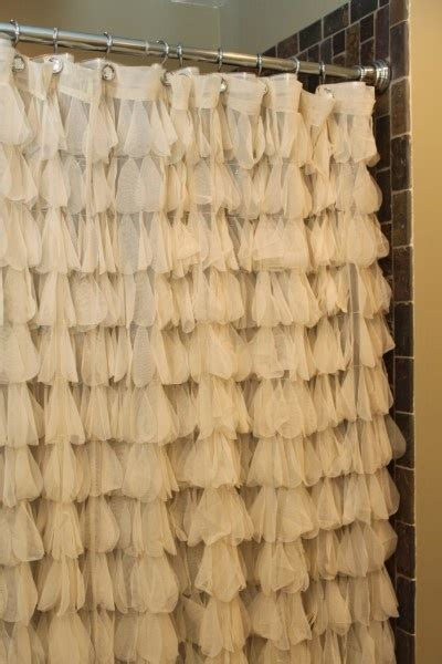 ivory ruffle shower curtain chichi petal shower curtain ivory couture and showers