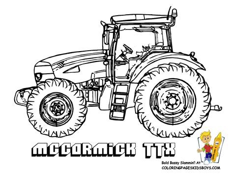 big boss tractor coloring pages to print free tractors