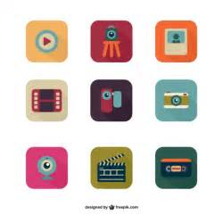 colorful icon pack colorful multimedia icon pack vector free