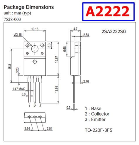 a2222 datasheet pnp bipolar transistor 50v 10a onsemi
