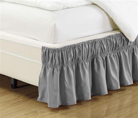 gray bed skirt ruffled bed skirt gray