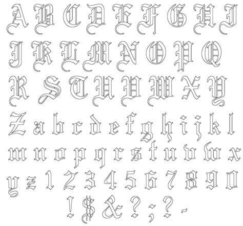 tattoo font outline tattoo schriften vorlagen 40 designs posts