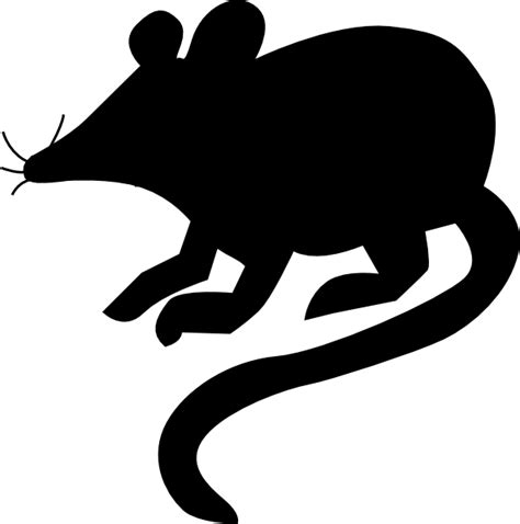mouse silhouette 2 clip art at clker com vector clip art