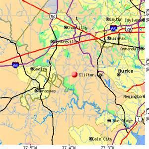 clifton map clifton virginia va 20124 profile population maps