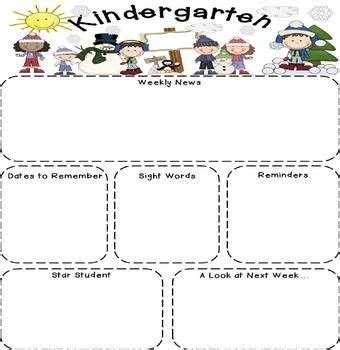 25 best ideas about kindergarten newsletter on pinterest
