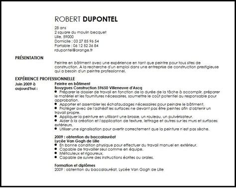 Lettre De Motivation De Peintre En Batiment Modele Cv Peintre En Batiment Lettre De Motivation 2017
