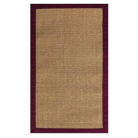 7 X 9 Area Rugs Home Decorators Collection Sisal And Burgundy 7 Ft X 9 Ft Area Rug 0290935180 The