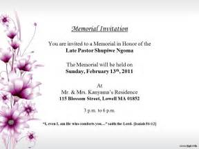 memorial invitation templates free 10 best images of sle dogs memorial newspaper