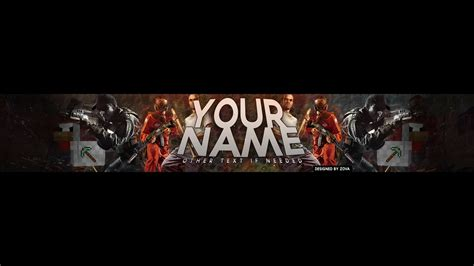 Youtube Gaming Banner Template Best Business Template Gaming Banner Template Psd