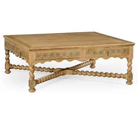 Distressed Coffee Table Oak Tudor Style Square Distressed Coffee Table 52 Quot
