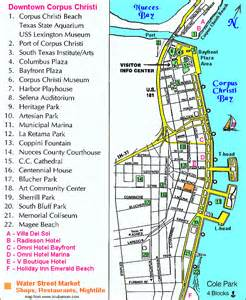 downtown corpus christi map corpus christi mappery