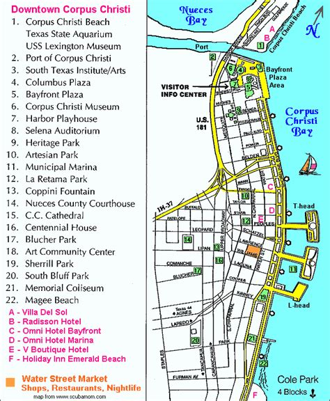 city map of corpus christi texas corpus christi maps activities