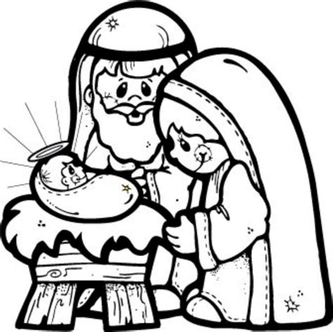 large printable nativity scene free coloring pages of nativity template
