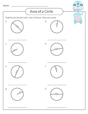 Area Of A Circle Worksheet by Measuring Area Worksheet Circles 5 Kidspressmagazine