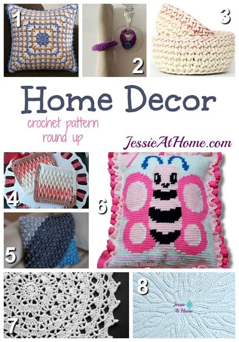 free crochet home decor patterns home decor decorate your home with crochet at home