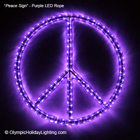 peace symbol sign led rope light display beautiful